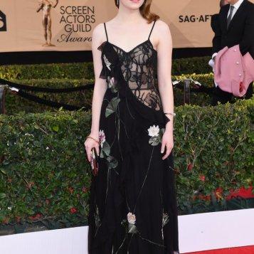 Emma Stone in Alexander McQueen