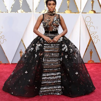 Janelle Monáe in an Elie Saab dress and Forevermark jewelry
