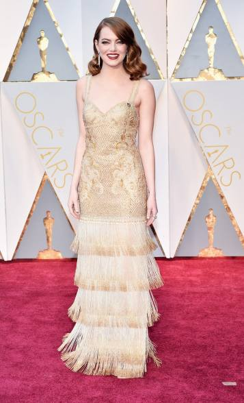 Emma Stone in Givenchy Haute Couture and Tiffany & Co. jewelry