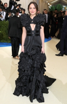 """NEW YORK, NY - MAY 01: Dakota Johnson attends the """"Rei Kawakubo/Comme des Garcons: Art Of The In-Between"""" Costume Institute Gala at Metropolitan Museum of Art on May 1, 2017 in New York City. (Photo by Neilson Barnard/Getty Images)"""