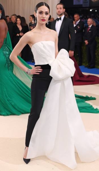 Mandatory Credit: Photo by David Fisher/REX/Shutterstock (8770824fm) Emmy Rossum The Costume Institute Benefit celebrating the opening of Rei Kawakubo/Comme des Garcons: Art of the In-Between, Arrivals, The Metropolitan Museum of Art, New York, USA - 01 May 2017