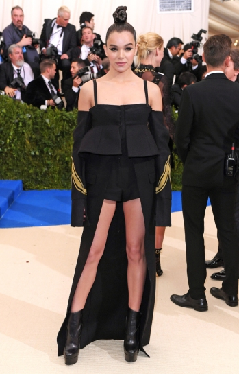 Mandatory Credit: Photo by David Fisher/REX/Shutterstock (8770824fk) Hailee Steinfeld The Costume Institute Benefit celebrating the opening of Rei Kawakubo/Comme des Garcons: Art of the In-Between, Arrivals, The Metropolitan Museum of Art, New York, USA - 01 May 2017